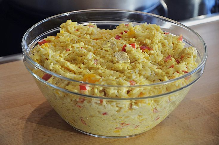 Chefkoch.de Rezept: Curry - Reissalat mit Hühnchen