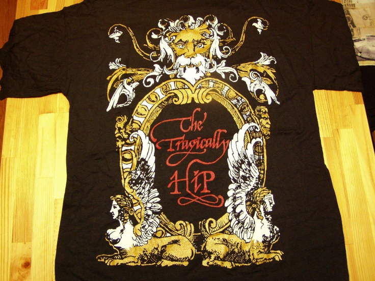 The Tragically Hip World Tour T shirt Licensed Tags by Donobob, $60.00