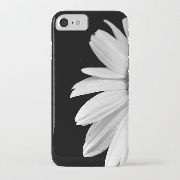 Half Daisy in Black and White iPhone Case ($36) ❤ liked on Polyvore featuring accessories, tech accessories, iphone, iphonecase, phone, iphone sleeve case, iphone cover case and black and white iphone case