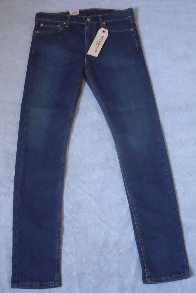 Levis 510 Men's Designer Skinny Blue Jeans W32 L34 - BNWT - Gift for him  | eBay