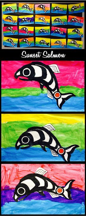 Native Salmon Art by my wonderful Ones!