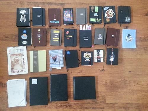 Most recent sketchbooks