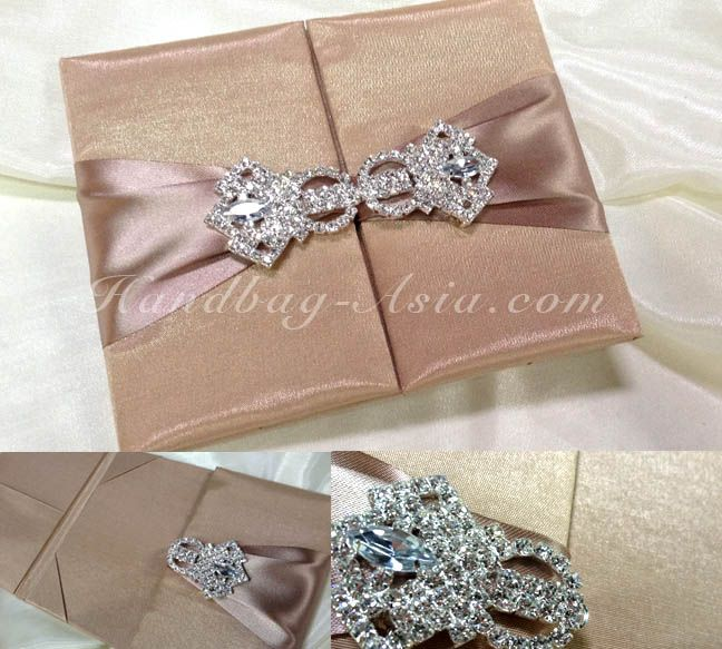 Luxury Silk Folio Wedding Invitation A Set Of 20