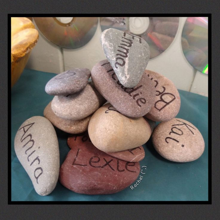 """Name stones pile-up from Rachel ("""",)"""