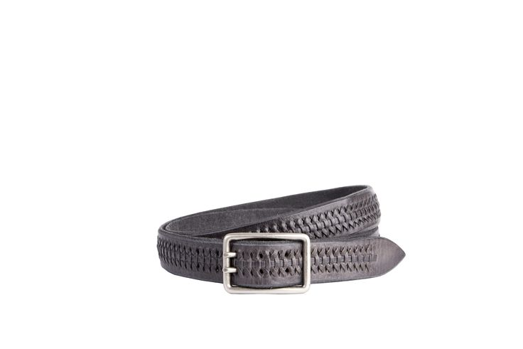 Buckles & Belts - Belt/Gürtel - New Autumn Collection 2016 - braided leather - antracite - anthracite grey - Design in SWITZERLAND made in ITALY https://www.facebook.com/BucklesBelts