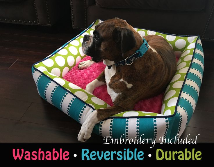 A personal favorite from my Etsy shop https://www.etsy.com/listing/526366801/bolster-dog-bed-durable-dog-bed-washable