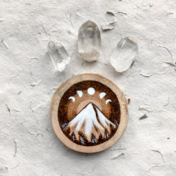 Hey, I found this really awesome Etsy listing at https://www.etsy.com/listing/249895314/wood-burned-mountain-and-moon-phases-no1