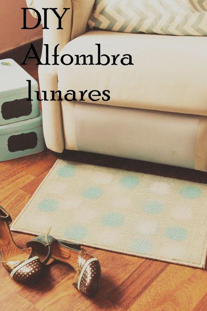 Boulevard Pink: DIY Decoración- Alfombra de lunares /Polka Dots Rug