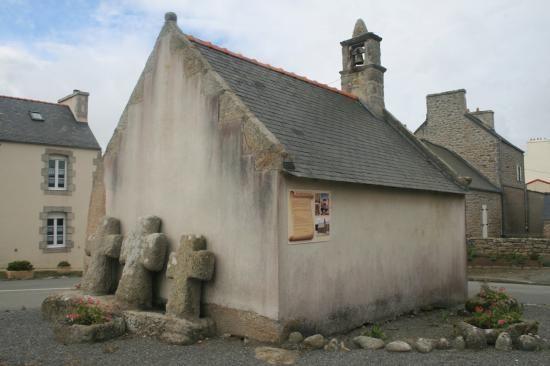 La chapelle Ste Anne du Croazou à Kerlouan . Finistère. Bretagne