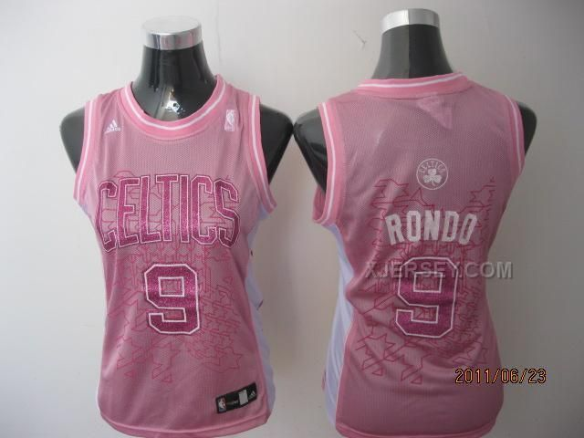 http://www.xjersey.com/celtics-9-rondo-pink-women-jersey.html CELTICS 9 RONDO PINK WOMEN JERSEY Only $34.00 , Free Shipping!