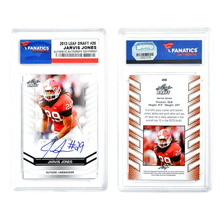 Jarvis Jones Pittsburgh Steelers Fanatics Authentic Autographed 2013 Leaf #26 Draft Card - $28.49