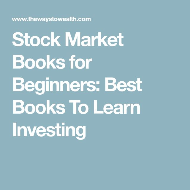 Stock Market Books for Beginners: Best Books To Learn Investing