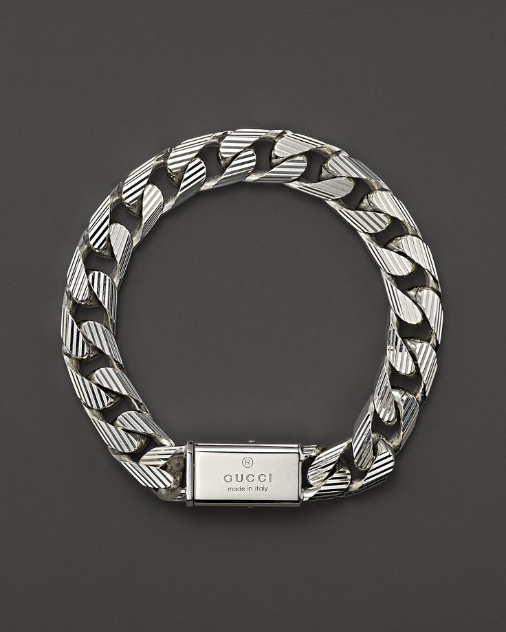 Gucci Metallic Mens Trademark Stripes Link Bracelet Starting At Similar Products Also Available