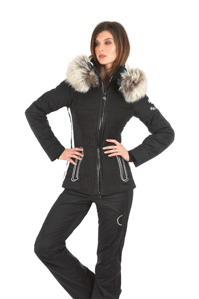 sportalm everlasting black ski jacket at winternational designer ski wear for women d. Black Bedroom Furniture Sets. Home Design Ideas