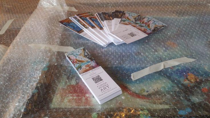 Siamo pronte alla consegna!!!! abbiamo imbustato i quadri e stampato i bigliettini!!!! We are READY!!! Mi raccomando vi aspettiamo dal 12 maggio al 19 maggio dalle 14.00 alle 18.00 allo spazio M'ARTe in corso Garibaldi 11 a Milano, vicinissimo alla fermata MM2 Lanza!!!!  #art #newart #feelings #emotion #colours #contemporary #loveart #gallery http://bit.ly/1HiHM1m