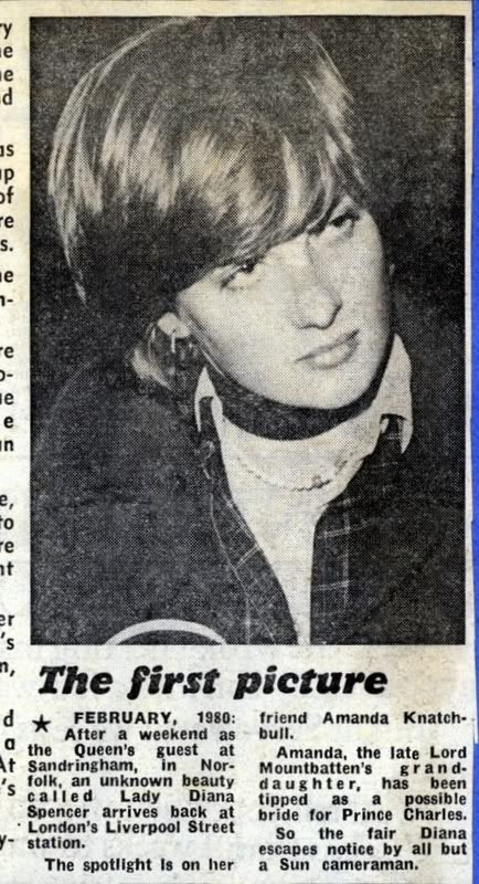 First press notice (& it was very minor) of Lady Diana Spencer by the British media.