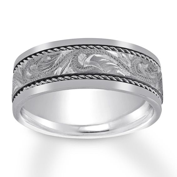 Men S Twisted Trim Wedding Band 14k White Gold Jared In 2020 Mens Wedding Bands White Gold Mens Wedding Bands 8mm Mens Wedding Band