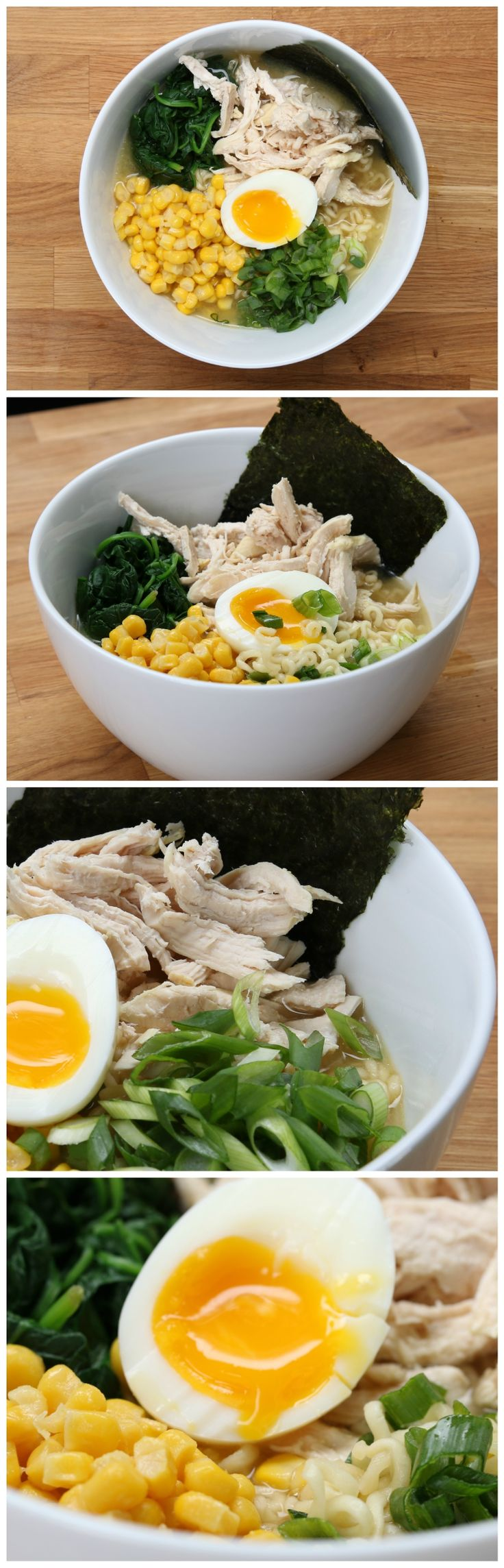 Easy Miso Chicken Ramen - This was so good, despite my forgetting to add the miso. Ha! Also, I didn't have spinach or nori. Definitely making it again.