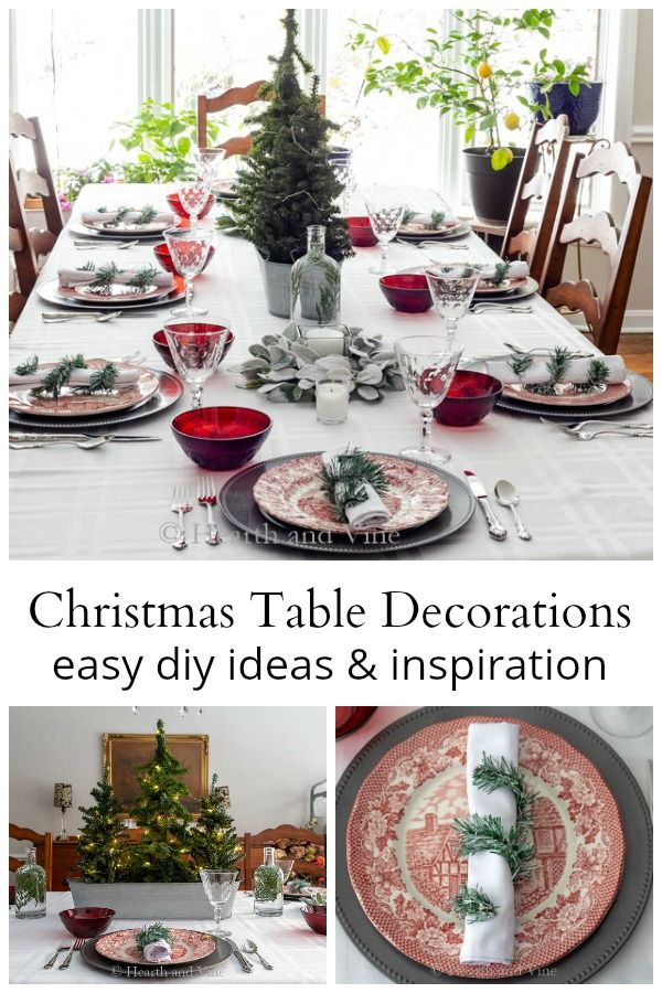 Christmas Table Decorations To Inspire Your Holiday Home Christmas Table Christmas Table Settings