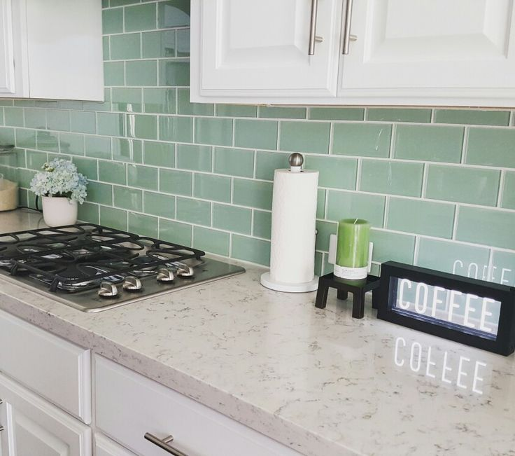 Solid Glass Backsplash Kitchen: Best 25+ Green Subway Tile Ideas On Pinterest