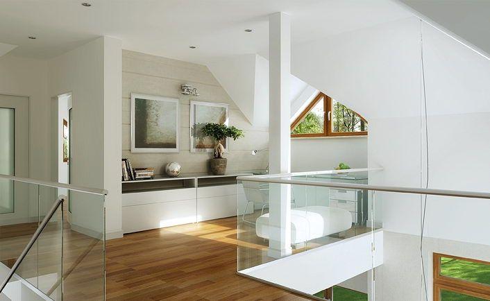 Stylowy 1 - wizualizacja 7 - Projekty stylowych domów z antresolą