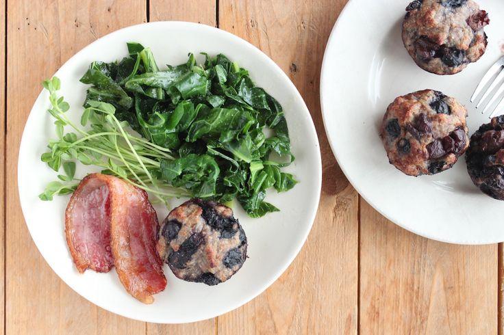 Blueberry turkey protein 'muffins'