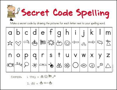 Mrs. Gilchrist's Class: Secret Code Spelling
