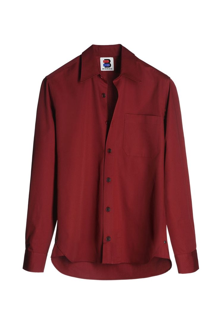 BIONDO ENDURANCE SINGLE POCKET W/PLACKET HD SPORT SHIRT NARROW FIT CM_0002 Burgundy