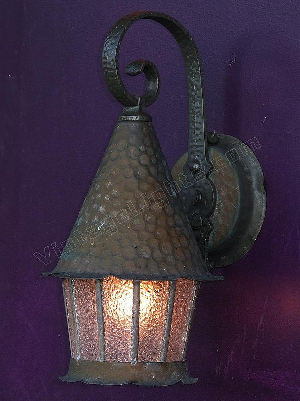 Dating From The Late 20s Through The 30s, This Is A Marrage Of Copper And  Aluminum. The Back Plate And The Shade On This Vintage Fixture Is Copper  While The ...