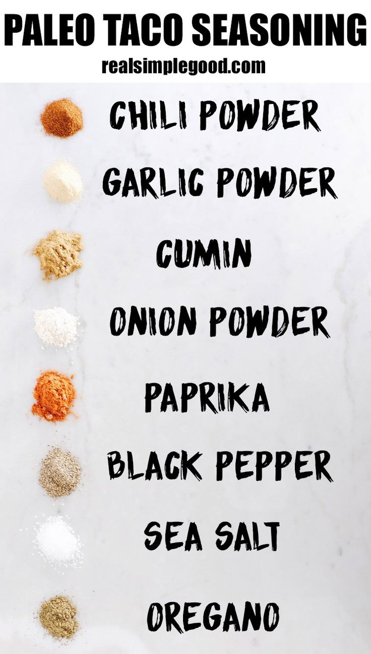 This homemade Paleo taco seasoning mix is EASY to make with spices everyone has…