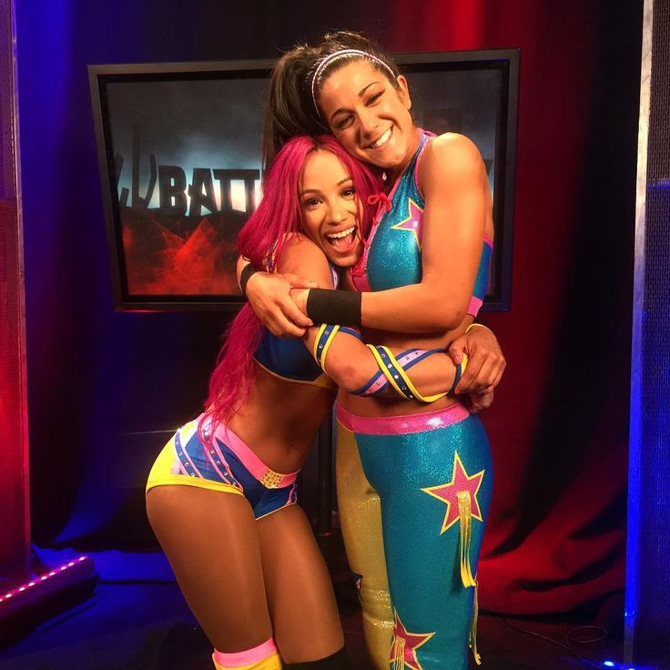 Sasha Banks & Bayley Hugging After Their Match At Battleground  #SashaBanks…