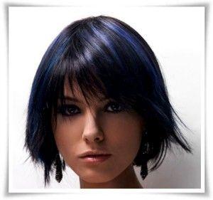 küt saç resimi 2015 mavi siyah renkli