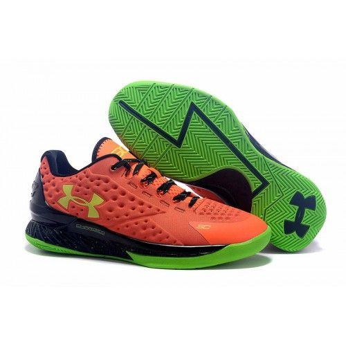 Discount Under Armour Curry One Low Bolt Orange - Boy\'s Grade School Bolt Orange/Avex Green Basketball Shoes On Sale - ibasketballwear.com