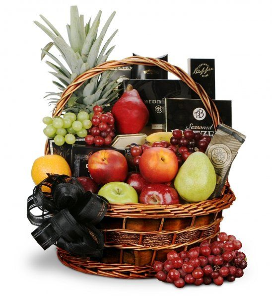 Deepest Sympathy Fruit and Gourmet Basket ~~ this is probably a favorite