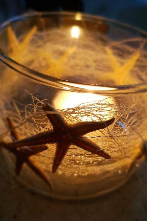 Windlicht für die Sommerparty als Tischdekoration selber machen. DIY Idee für den Sommer. Basteltipp zum selbermachen