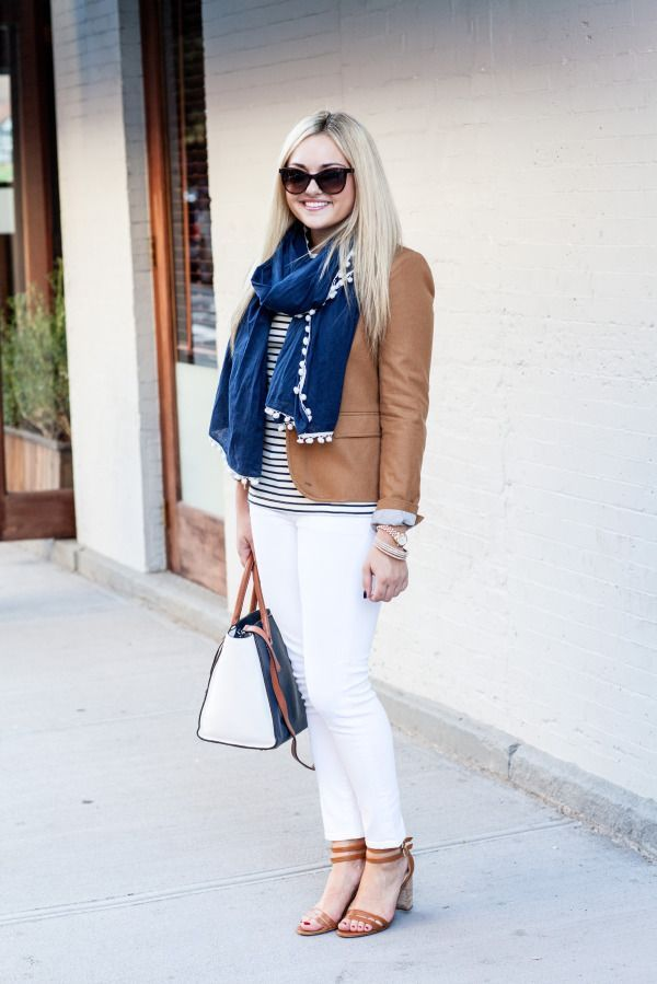 Crisp White, Camel, & Navy (via Bloglovin.com )