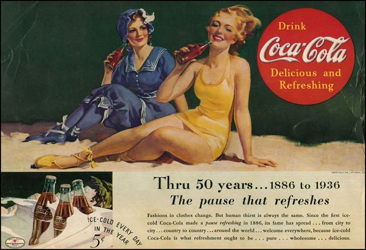 Classic coca-cola ad back in 1886 . #tbt #throwbackthursday