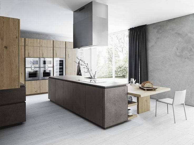 Fitted Kitchen With Island Without Handles CLOE   COMPOSITION 2 By Cesar  Arredamenti Design Gian Vittorio Plazzogna