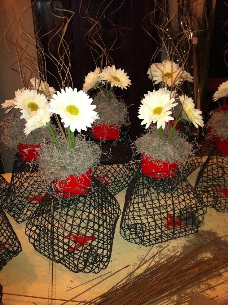 Swamp Chic Table Centerpieces Mini Crawfish Traps
