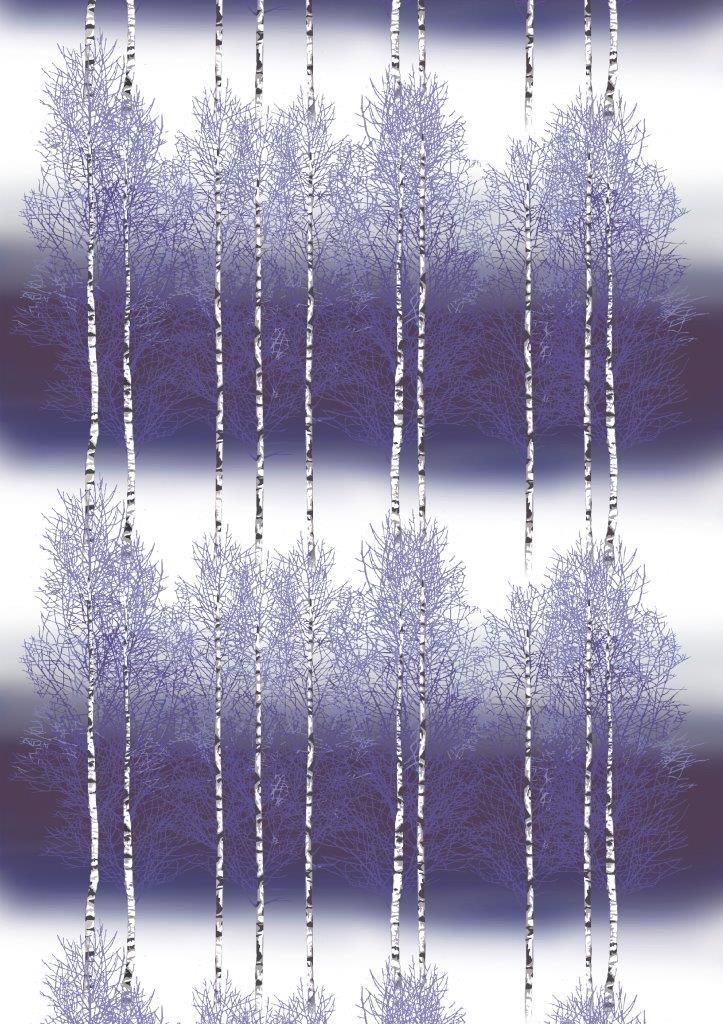 Vallila Interior AW14, Koivikko violet by Riina Kuikka