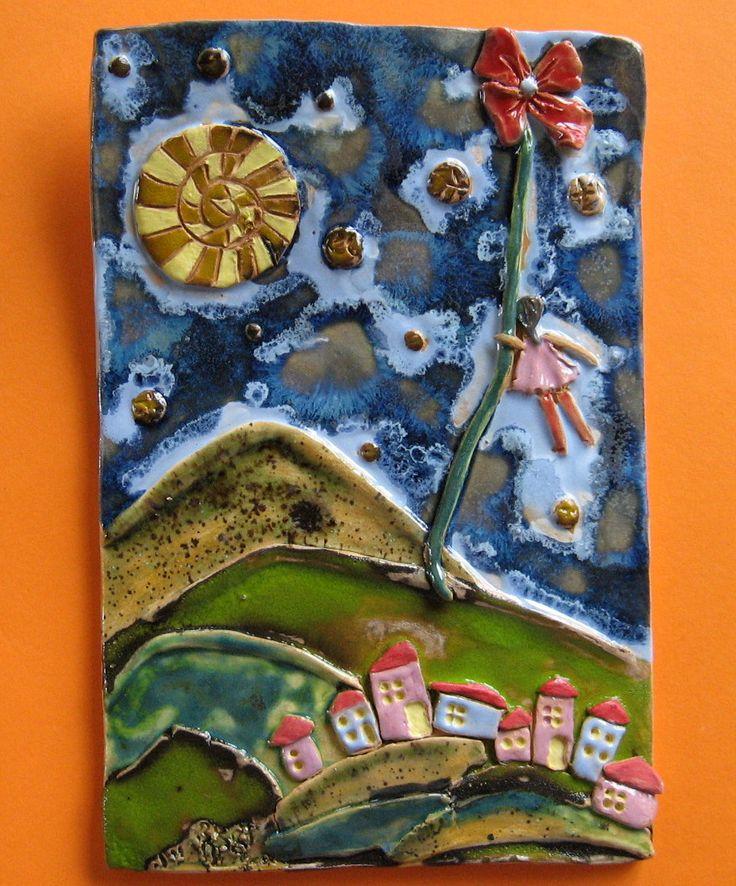 Ceramic picture obrazek ceramiczny