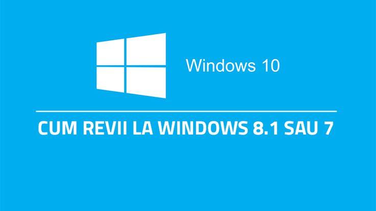 Windows 10 este acum disponibil pentru toată lumea. Unii sunt foarte încântaţi de noul sistem de operare, dar există şi persoane care nu s-au obişnuit cu noua interfaţă şi ar dori să revină la versiunea anterioară. Nicio problemă. Există...