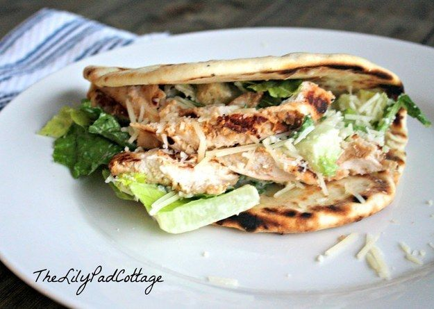 Chicken Caesar Pitas | 23 Easy And Inexpensive Meals You Can Make With Pita Bread