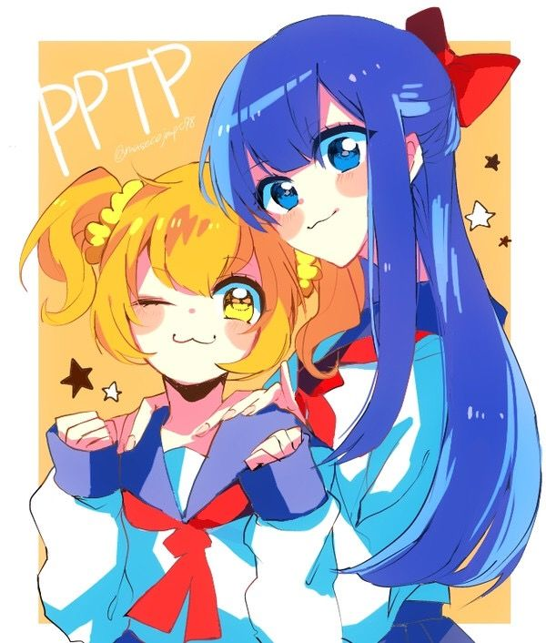 Pop Team Epic Popuko Pipimi Anime Galaxy Kawaii Drawings Anime