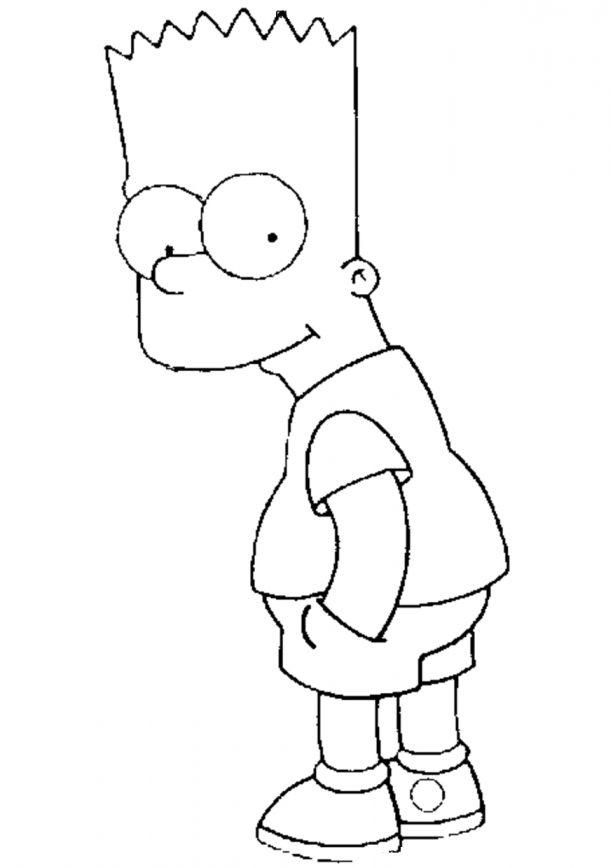 15 Bart Simpson Coloring Page In 2020 Colorful Drawings Bart And Lisa Simpson Bart Simpson