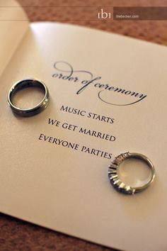 Cute wedding program!   Let us help you plan out all your wedding day details! www.PerfectDayWeddingPlanners.com