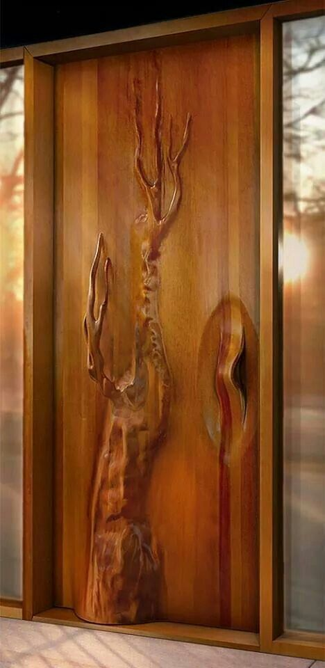 Interesting carved door