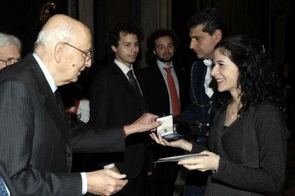 Il Presidente della Repubblica premia Irene Veneziano
