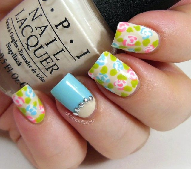 spring nail designs 2014 | gel-nail-art-cute-spring-flower-themed-nail-art-designs-with-pastel ...