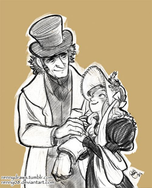 Commission- Valjean and Cosette by Renny08.deviantart.com on @deviantART